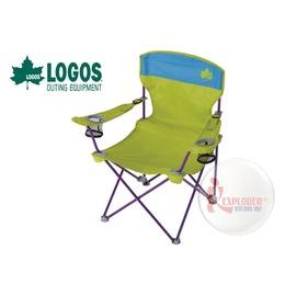 探險家戶外用品㊣NO.73172006 日本品牌LOGOS RECLINING椅 綠 兩段椅休閒椅導演椅折疊椅