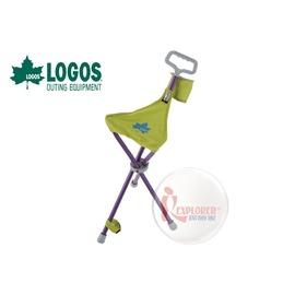 探險家戶外用品㊣NO.73173020 日本品牌LOGOS 新式摩登拐杖椅 登山杖兩用/排隊/老人拐杖椅