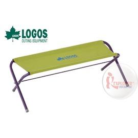 探險家戶外用品㊣NO.73176005 日本品牌LOGOS 雙人凳綠 長板凳休閒椅摺疊椅情人椅親子椅