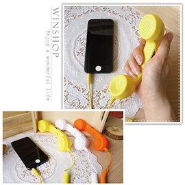 【Q禮品】A1954 iphone復古電話筒-小(A款)/IPad HTC 電話/手機電話筒/外接聽筒/耳機接收器/3.5MM耳機孔