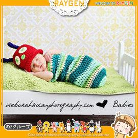 童裝  嬰兒 攝影 寫真 彌月禮 毛毛蟲 睡袋 手工 針織【HH婦幼館】