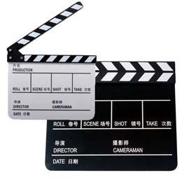 Action開麥拉電影拍板 導演版 場記版 電影場記板 場記打板 攝影道具 中英文場記板