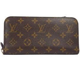 ~9成新~Louis Vuitton LV M60042 Insolite 花紋多 雙拉鍊