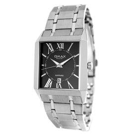 ~OMAX~OM~093 典雅品味方型薄款 鐵帶腕錶 男錶 女錶 中性錶~黑面