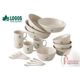探險家戶外用品㊣NO.81285007 日本品牌LOGOS 愛地球家庭食器組 餐具組.碗.湯匙.叉子.杯.餐盤