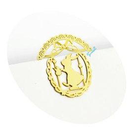 (特賣)創意 金屬書籤夾~甜美蝴蝶結小兔 ◇/書夾/金屬書簽/創意禮品/婚禮小物