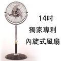 中央牌KZS-142A金牌獎節能內旋風扇-14 360度內旋式循環立扇