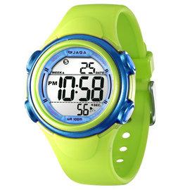 M1044 捷卡多 錶^(綠藍 藍橘 白紫 桃紅 黑綠 黑紅^) JAGA馬卡龍色彩電子錶