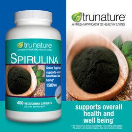 美國 trunature ® 有機夏威夷螺旋藻1500毫克, 400粒^(素食膠囊^)