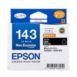 ~EPSON 墨水匣~T143151 ^(143^) 雙黑色高印量XL墨水匣 包 960F