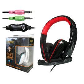 KOMC K7 多媒體全罩式 耳機 麥克風 黑 白 兩色~嘉義•超頻電腦~42S76008