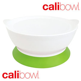 【紫貝殼】『DBA20-3』2017新裝上市 美國 Calibowl 專利防漏學習吸盤碗 12oz附蓋-綠【保證公司貨●品質有保證】