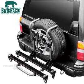 【BN'B RACK 美國熊牌】鋁合金備胎式滑槽式固定攜車架.滑槽型備胎攜車架/附防盜鎖及鑰匙.航太輕量鋁平臺/BC-8402-2S