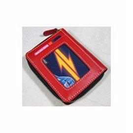 Artkina 牛皮拉鍊卡片夾~紅