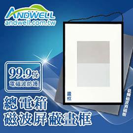 ~ 超強抗電磁波~ 居家 ~ANDWELL總電箱磁波屏蔽畫框~高達99.9^% 遮蔽率 綠