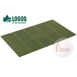 探險家戶外用品㊣NO.73810201 日本品牌LOGOS Premium 金牌 折疊防潮墊10mm厚 120*200 發泡防潮睡墊