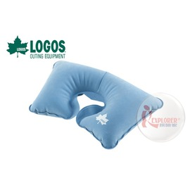探險家戶外用品㊣NO.73860014 日本品牌LOGOS 萬用充氣枕 U型枕 護頸枕頭飛機枕午睡枕車枕枕頭