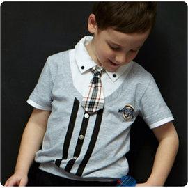【畢業典禮正式上衣】孩子王專櫃 ~   KP 中大男  英國學院風領帶 假2件式下束口 有