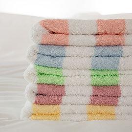 ~LIFE來福牌~HJ0554~100^%純棉緞彩條毛巾1入