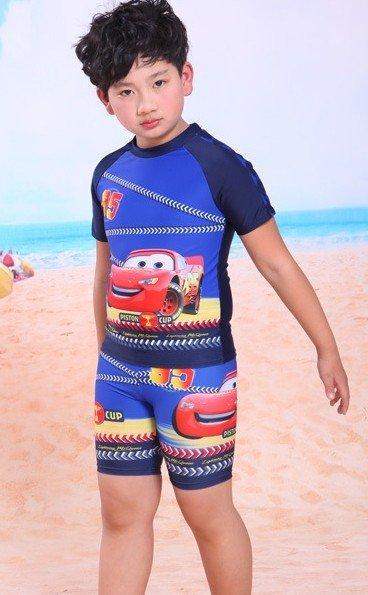 汽车总动员款超炫赛车图案2件式泳衣(l/xl/xxl)超值特价398元