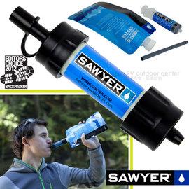 【美國 Sawyer】美國製 Mini Water Filter極致輕量戶外用濾水器組.便攜迷你淨水器.隨身濾水器.登山健行濾水器/ SP128