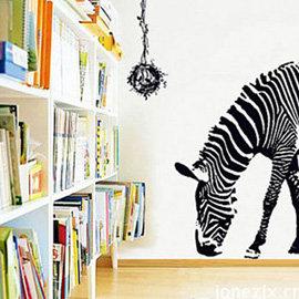 壁貼 ~ 黑白斑馬