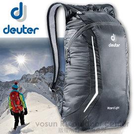 【德國 Deuter】Wizard Light 12L簡易型攻頂背包(僅135g).折疊式背包.登山背包.露營背包.雙肩背包.旅行包_黑 39114