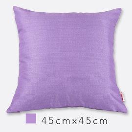 Basa原色抱枕^(含枕心^)~淺紫 45cm×45cm 羅紋布面 配色隱形拉鍊 素色單色