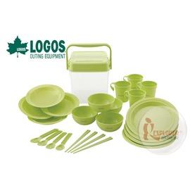 探險家戶外用品㊣NO.81285004 日本品牌LOGOS 愛地球4人餐具組 套鍋具組 餐碗盤 露營 野炊 廚具