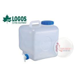 探險家戶外用品㊣NO.81441681 日本品牌LOGOS 抗菌寬口水桶16L 折疊水箱戶外加厚水筒 露營炊事