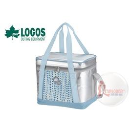 探險家戶外用品㊣NO.81670421 日本品牌LOGOS INSUL10軟式保冷袋15L-藍 保冷箱行動冰箱 冰筒 冰桶