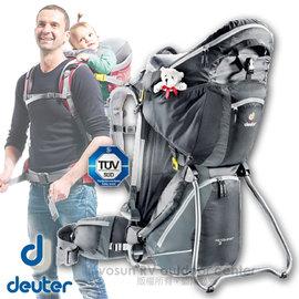 【德國 Deuter】新款 Kid Comfort III 18L 專業輕量嬰兒背架背包.兒童揹架.健行登山背包.野外露營行動嬰兒座椅 黑/灰 36524