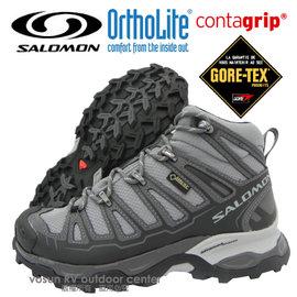 【索羅門 SALOMON】女 X Ultra Mid Gore-Tex W 中筒 防水透氣健行登山鞋/休閒運動鞋.Contagrip抓地力防滑鞋底_灰 328152