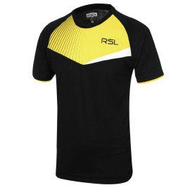 RSL_2014扇形透氣圓領排汗衣^(黑色男版^)