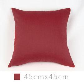 Varin多彩抱枕^(含枕心^)~紅 45cm×45cm 12色 平紋布面 素色單色單品