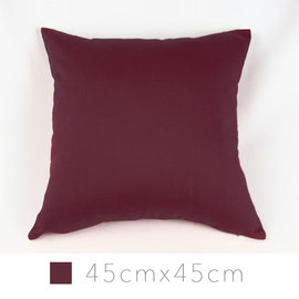 Varin多彩抱枕^(含枕心^)~酒紅 45cm×45cm 12色 平紋布面 素色單色單品