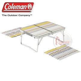 探險家戶外用品㊣CM-4236美國Coleman 日本合式野餐桌 (附坐墊2入) 53*40露營帳篷小桌 摺疊桌
