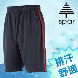 【SPAR】男款 排汗休閒運動短褲.彈性休閒褲/輕量舒適.吸濕排汗.快乾透氣.耐穿/SB62686 丈青色/紅色