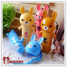 【winshop】A2031 可愛大頭兔手風扇/日系兔子熊熊電風扇/隨身攜帶式造型風扇/涼扇/迷你電扇/安全風扇