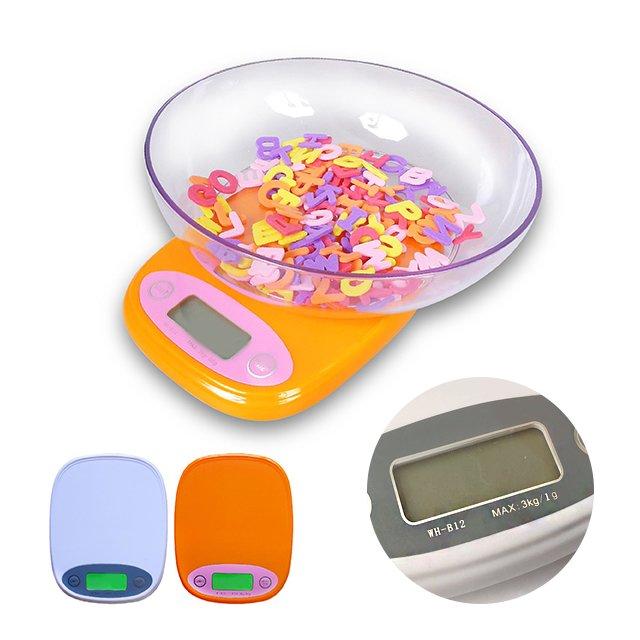 【Q禮品】A2034 液晶螢幕3kg優質電子秤/輕薄好攜帶/3公斤磅秤/料理秤/廚房秤/,另售體重計