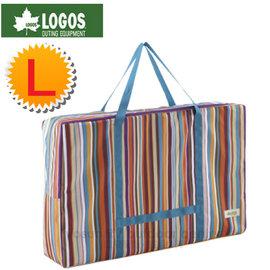 【日本 LOGOS】折疊桌椅條紋收納袋 L號.收納提袋.外出袋.置物袋.購物袋.行李袋.裝備袋/露營.旅遊.購物皆可用 73189901