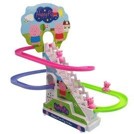 企鵝滑冰電動軌道溜滑梯 NO.1206E 超可愛企鵝爬樓梯玩具^(音樂.卡裝.附電池^)