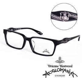 Vivienne Westwood 英國Anglomania英倫龐克徽章光學眼鏡 黑  A