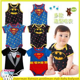 童裝 超人 蝙蝠俠 紳士 包屁衣 背心 連身衣 【HH婦幼館】