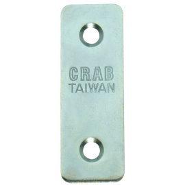 直角鐵 一字型固定鐵片 固定片 木工 加強(補強) 2孔 台灣製 (2入)
