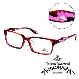 Vivienne Westwood 英國Anglomania英倫龐克徽章光學眼鏡 紅  A