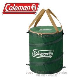 【美國 Coleman】萬用魔術桶/壓縮摺疊桶.彈力筒.置物桶.露營收納桶.食物儲存桶.垃圾桶.多用途RV筒/CM-6907 綠(缺貨中)