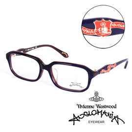 Vivienne Westwood 英國Anglomania英倫龐克徽章光學眼鏡^(紫^)