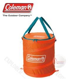 探險家戶外用品㊣CM-6679美國Coleman 杏黃 萬用魔術桶 彈力筒置物桶垃圾桶RV筒摺疊收納