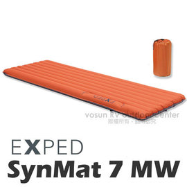 【瑞士 EXPED】SynMat 7 MW 超輕量加寬型打氣輕量保暖睡墊(管狀/內建幫浦)/空氣墊.適單車環島.露營.自助旅行(非自動充氣) 32205320